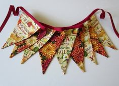 This item is unavailable Fall Bunting, Bunting Ideas, Fall Banner, Fall Garland, Thanksgiving Banner, Thanksgiving Decorations, Fabric Bunting, Bunting Banner, Sewing Ideas
