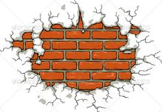 Realistic Graphic DOWNLOAD (.ai, .psd) :: http://jquery.re/pinterest-itmid-1002396749i.html ... Brick Wall ...  background, brick, building, cartoon, cement, crack, crumbled, damaged, destroyed, isolated, plaster, razed, vector, wall, wracked  ... Realistic Photo Graphic Print Obejct Business Web Elements Illustration Design Templates ... DOWNLOAD :: http://jquery.re/pinterest-itmid-1002396749i.html
