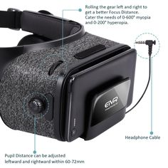 3449429afe17 ETVR Upgraded Virtual Reality Headset VR Glasses with Remote Controller for  3D Movies and VR Games