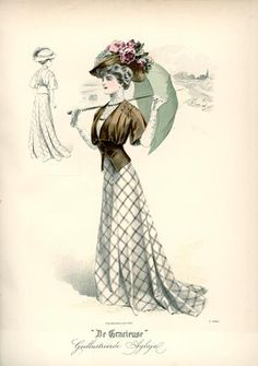 De Gracieuse, August 1908, Edwardian Fashion Plate. Jennifer Thompson did an awesome dress that, I think, was the reconstruction of this fashion plate.