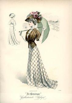 De Gracieuse, August 1908, Edwardian Fashion Plate