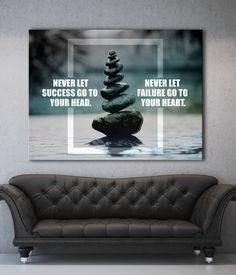 Business Wall Art: Zen Business Heart Canvas (Wood Frame Ready To Hang)