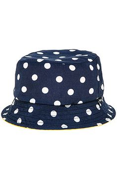 Quintin Hat Polka Reversible Bucket in Yellow