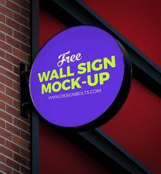 free-circular-wall-sign-board-logo-mockup-psd-file