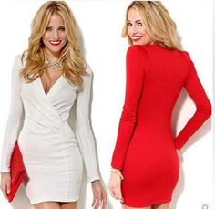 New Arrivals women clothing sexy Slim deep V solid color dress women Bodycon Club Wear || Collect your elegant Clothes or Accessories at mamirsexpress.com. #ModernFashion #ClassicFashion #WomenFashion #SexyWomen #Ladies #trendy #bodysuits #rompers #cocktail #Jewelary #Dresses