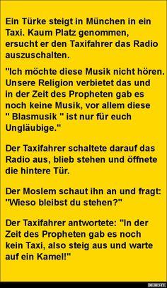 Ein Türke steigt in München in ein Taxi...