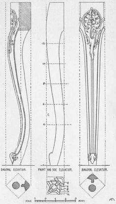 PLATE III. FRENCH CHAIR LEG