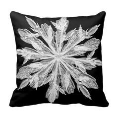 Snowflake Crystal Pillow