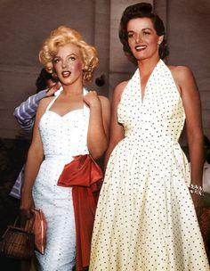 Marilyn Monroe and Jane Russell- gentlemen prefer blondes :)