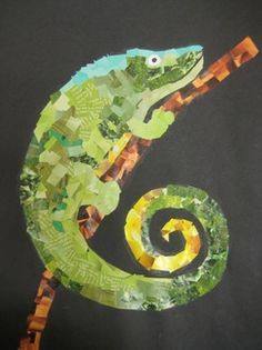 Magazine Collage animal mosaics - Hey Mimi, I thought this might be a fun art project with your kids.
