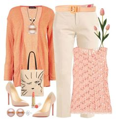 Peach Craze by amisha73 on Polyvore featuring moda, Boohoo, Christian Louboutin and Prada