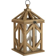 Made for the spotlight, our wooden framed lantern creates a rustic yet elegant feeling as the focal point of your tablescape or entryway. Fill it with LEDs or decorative spheres to add depth and warmth, and be prepared for guests to steal second and third glances.