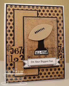 Start the high school football season off with a card using your school colors and Stampin' Up! Description from pinterest.com. I searched for this on bing.com/images