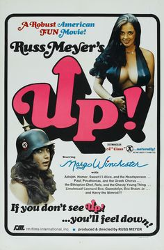 UP 1976 Russ Meyer Exploitation Movie Movie Poster Art, Poster S, Russ Mayer, Greek Chorus, 1976 Movies, Long John Silver, Vintage Movies, Vintage Posters, Online Posters