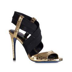£: Scarpe gioiello oro e argento da sposa - Sandali gioiello da sposa tacchi bassi | Loriblu.com