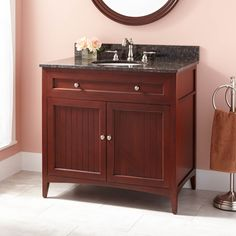"36"" Bedford Vanity for Undermount Sink - Medium Cherry"