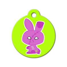Zombie Bunny - Halloween Pet Tag #holidays #dogtagsfordogs #pettags #dogaccessories #dogfashion #dogs #pets #etsy #etsyfinds #zombie #halloween