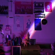 Pinterest: ArtsyyyAF Purple Aesthetic, Aesthetic Rooms, Retro Aesthetic, Psychedelic Art, Neon Lighting, Ultra Violet, Wall Collage, Aesthetic Pictures, My Room