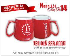 Khách hàng có hóa đơn mua sắm tại Điện Máy Thiên Hòa từ 590.000đ sẽ được tặng ly sứ cao cấp trị giá 299k.