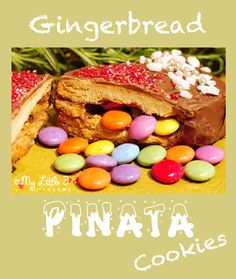 Pinata Gingerbread. A super fun Christmas cookie recipe for the children to make, eat and share. From My Little 3 and Me
