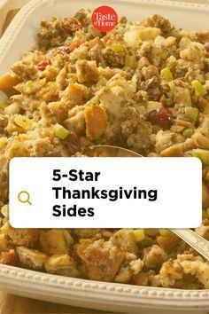 5-Star Thanksgiving Sides Thanksgiving Sides, Thanksgiving Recipes, Holiday Recipes, Holiday Side Dishes, Green Bean Casserole, Side Dish Recipes, Fried Rice, Green Beans, Breakfast Recipes