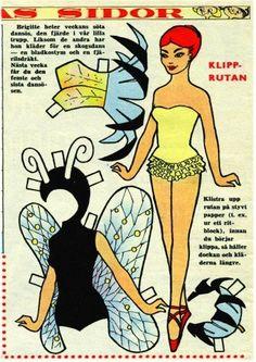 ENGLISH: FAIRIES: Beautiful fairies to brighten and enhance year-end magic! <> PORTUGUESE Fadinhas: Lindas fadinhas para alegrar e aumentar a magia de fim de ano! 2 of 4 Paper Doll Costume, Barbie Paper Dolls, Vintage Paper Dolls, Beautiful Fairies, Beautiful Dolls, Paper Toys, Paper Crafts, Sewing Scissors, Paper Animals
