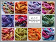 Hand dyed silks in the shop @ http://etsy.com/shop/colourcomplements