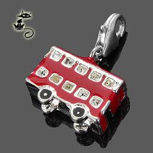 Charms London Bus Size 1.7 x 1 x 0.8 cm For Women And Men Vintage Gift Thomas Style Charm Club Fit Ts Bracelet And Tms Necklace(China (Mainland))