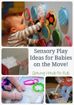 Sensory play ideas for babies on the move, sponsored by Family Dollar Kidgets Diapers. (AD)
