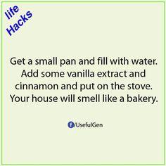 Life hack house smell like bakery