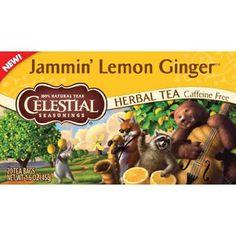 Celestial Seasonings Herbal Tea Jammin Lemon Ginger Caffeine Free 20 Bags Pack of 6 Review Buy Now