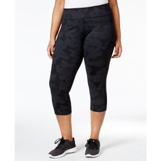 Calvin Klein Performance Plus Size Printed Cropped Leggings ($40) ❤ liked on Polyvore featuring plus size women's fashion, plus size clothing, plus size pants, plus size leggings, jigsaw combo, calvin klein pants, cropped leggings, print leggings, legging pants and white leggings