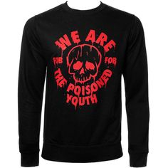 Fall Out Boy Poisoned Youth Sweatshirt (Black) ($42) ❤ liked on Polyvore featuring fall out boy, shirts and sweatshirt