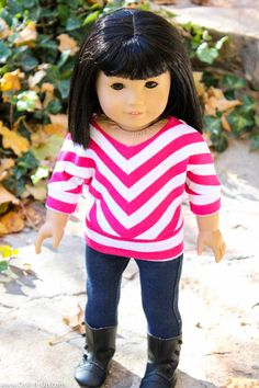 Free pattern and instructions to make this cute shirt for dolls!