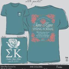 Sigma Kappa at UTC formal shirt