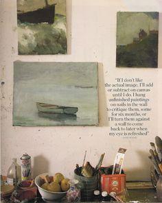 brillamment l'univers: l'artiste Anne packard dans le magazine côtière de vie