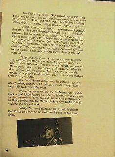 An older article about Prince page 4