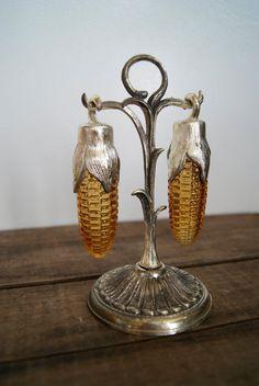 Vintage corn salt and pepper shakers