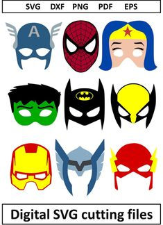 Arrow Heart SVG Files for Cricut Arrow Monogram SVG Files for Silhouette Digital Files Arrow Circle Monogram svg Valentines Day Monogram Dxf Hulk Mask, Batman Mask, Mascaras Halloween, Halloween Masks, Iron Man, Spiderman, Hero Crafts, Superhero Birthday Party, Mask For Kids