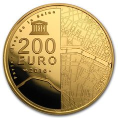 France - The UNESCO series from the Monnaie de Paris pays tribute to various UNESCO world heritage sites. This Gold coin, with a low mintage of just 500 coins, honors the Orsay museum and Le Petit Palais.