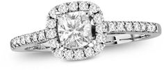 Zales 3/4 CT. T.W. Radiant-Cut Diamond Frame Engagement Ring in 14K White Gold
