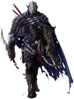 Orc ♂ - Guetteur/Assassin/Maître d'armes