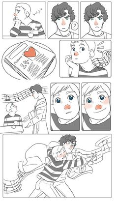 OH MY GOSH I DON'T EVEN CARE IF I'VE PINNED THIS BEFORE. SHERLOCK CHEERING JAWN UP ON VALENTINES DAY NEEDS TO BE CANON.