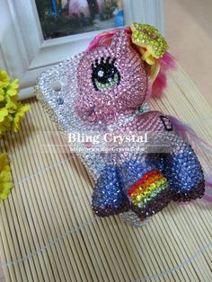 bling my little pony cell phone case