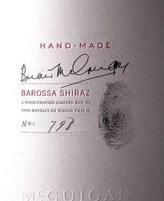 Простая и изысканная винная этикетка. Использовано все несколько цветов и отпечаток пальца. #wine #вино