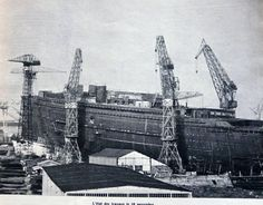 Le paquebot France en construction à St Nazaire