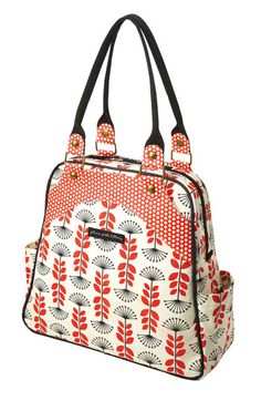 Lovely bag with lots of room! And a magazine pocket in the front for mom...great for travel!