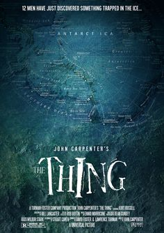 The Thing, poster concept art by Damon Cassaro Classic Movie Posters, Horror Movie Posters, Cinema Posters, Movie Poster Art, Fiction Movies, Cult Movies, Sci Fi Movies, Scary Movies, Ghost Movies