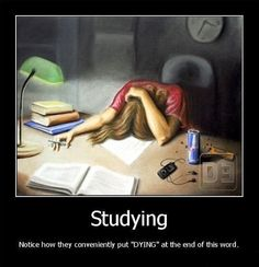 Studying, life story.