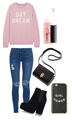 """Untitled #80"" by gintarytee ❤ liked on Polyvore featuring Zoe Karssen, Current/Elliott, Topshop and MAC Cosmetics"